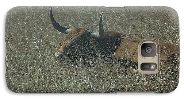 Galaxy Case featuring the photograph The Longhorn by Alan Lakin