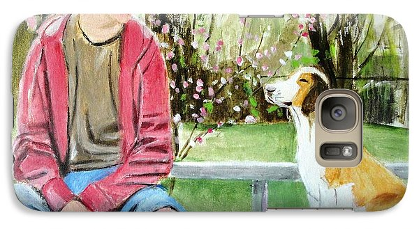Galaxy Case featuring the painting The Look Of Love by Judy Kay