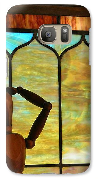 Galaxy Case featuring the photograph The Lookout by Jean Goodwin Brooks