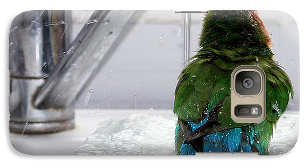 Galaxy Case featuring the photograph The Lovebird's Shower by Terri Waters