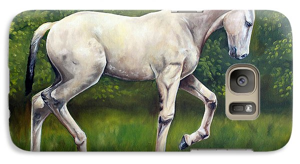 Galaxy Case featuring the painting The Lusitano by Debbie Hart