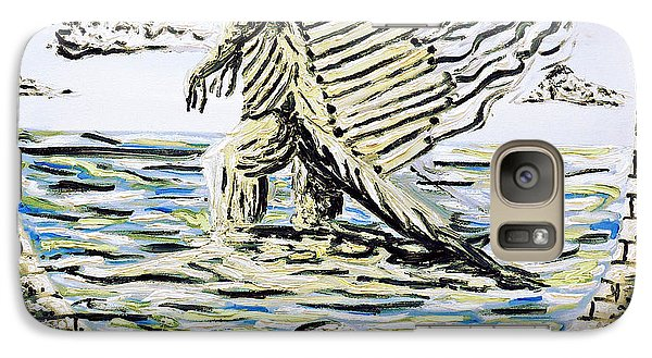 Galaxy Case featuring the painting The Machine by Ryan Demaree