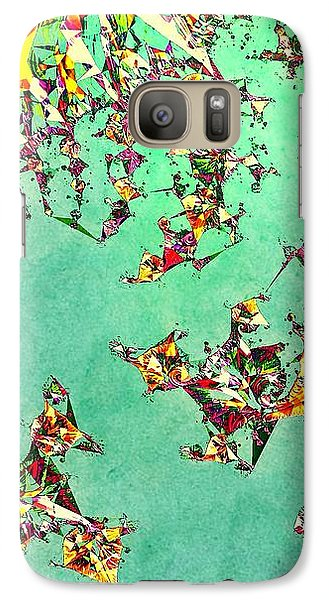 Galaxy Case featuring the digital art The Mad Hatter's Fractal by Susan Maxwell Schmidt