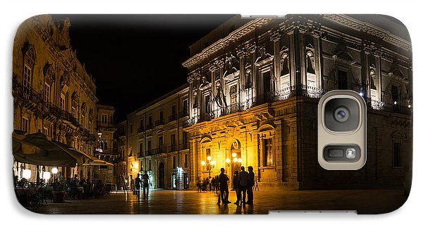 Galaxy Case featuring the photograph The Magical Duomo Square In Ortygia Syracuse Sicily by Georgia Mizuleva