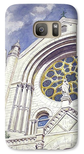 Galaxy Case featuring the painting The Magnificent Sacred Heart by Roxanne Tobaison