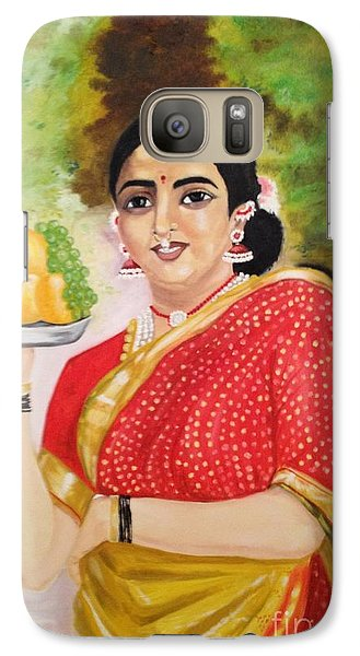 Galaxy Case featuring the painting The Maharashtrian Lady by Brindha Naveen
