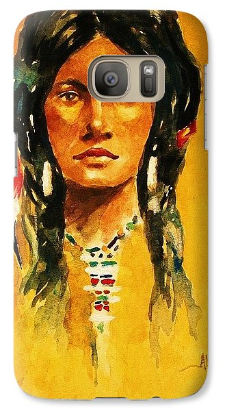 Galaxy Case featuring the painting The Maiden Ll by Al Brown
