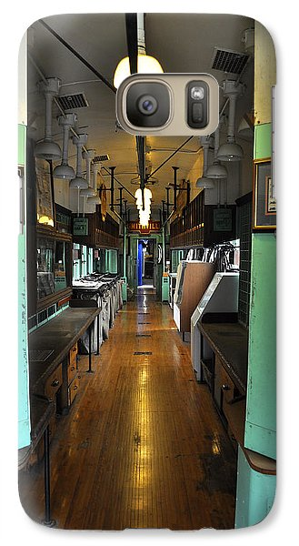 Galaxy Case featuring the photograph The Mail Car From The Series View Of An Old Railroad by Verana Stark