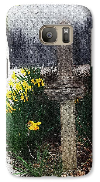 Galaxy Case featuring the photograph The Mailbox - Digital Watercolor by Ellen Tully
