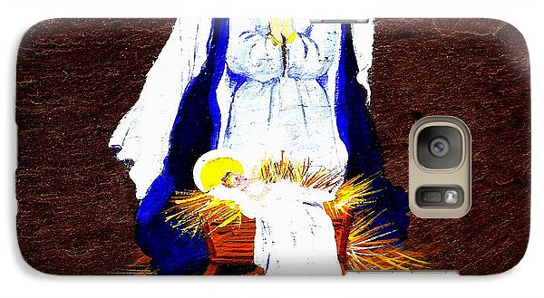 Galaxy Case featuring the painting The Manger by Ellen Canfield