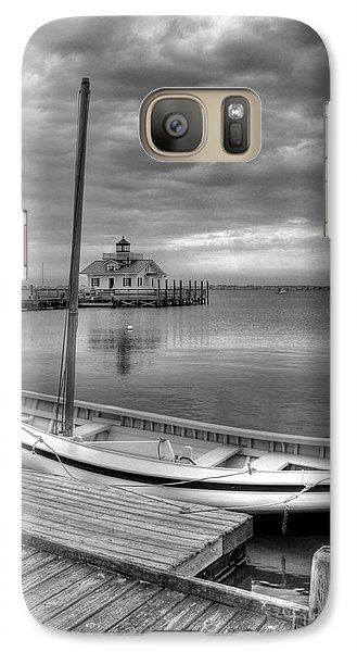 Galaxy Case featuring the photograph The Manteo Waterfront 2bw by Mel Steinhauer