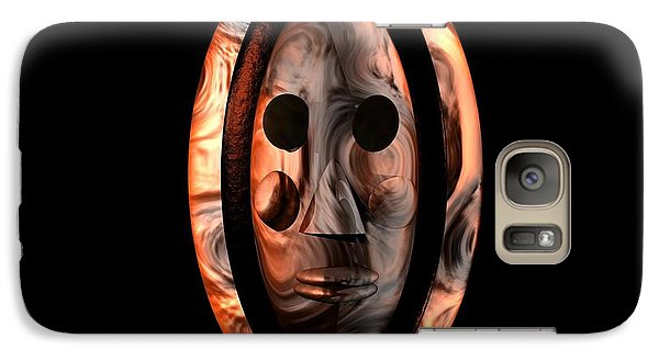 Galaxy Case featuring the digital art The Mask Series 1 by Jacqueline Lloyd