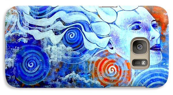 Galaxy Case featuring the painting The Merging by Julie  Hoyle