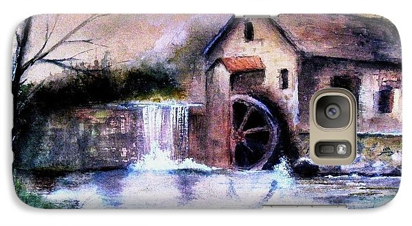 Galaxy Case featuring the painting The Millstream by Hazel Holland