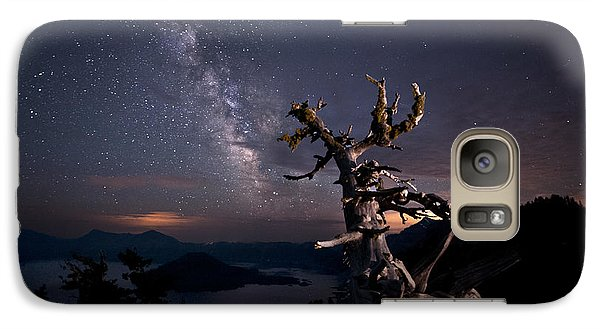 The Mind Belonged To Heaven The Body's Shadow Lies There Galaxy S7 Case by Melany Sarafis