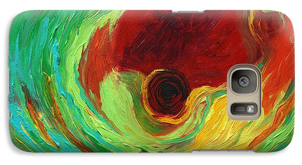 Galaxy Case featuring the painting The Mind's Eye by Alison Caltrider