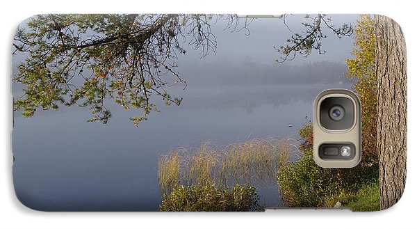 Galaxy Case featuring the photograph The Mist Will Soon Be Gone by Sheila Byers
