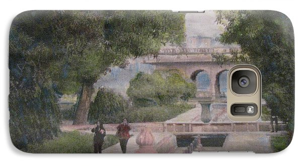 Galaxy Case featuring the painting The Moghul Gardens by Vikram Singh