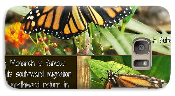 Galaxy Case featuring the photograph The Monarch Story by Mindy Bench