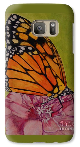 Galaxy Case featuring the painting The Monarch by Suzette Kallen