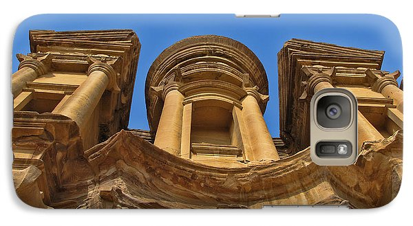 Galaxy Case featuring the photograph The Monastery In Petra by David Gleeson