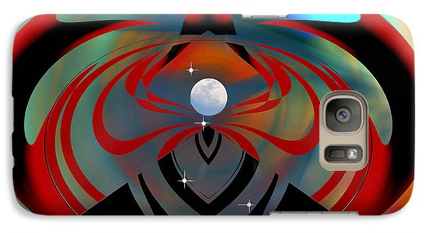 Galaxy Case featuring the digital art The Moon In Cancer by rd Erickson