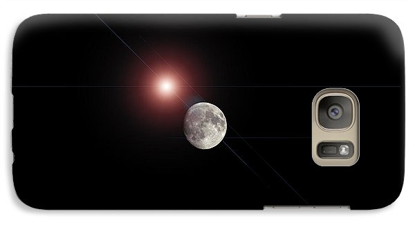 Galaxy Case featuring the photograph The Moon by Pennie  McCracken