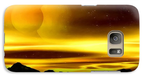 Galaxy Case featuring the painting The Moons Of Midas by Pet Serrano