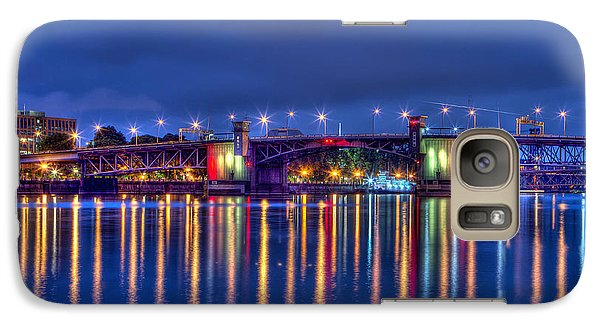 Galaxy Case featuring the photograph Morrison Bridge Reflections by Thom Zehrfeld