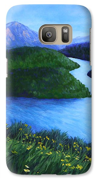 Galaxy Case featuring the painting The Mountains Beyond by Penny Birch-Williams