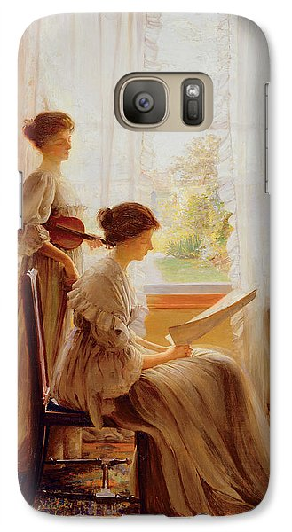 Violin Galaxy S7 Case - The Music Lesson, C.1890 by American School
