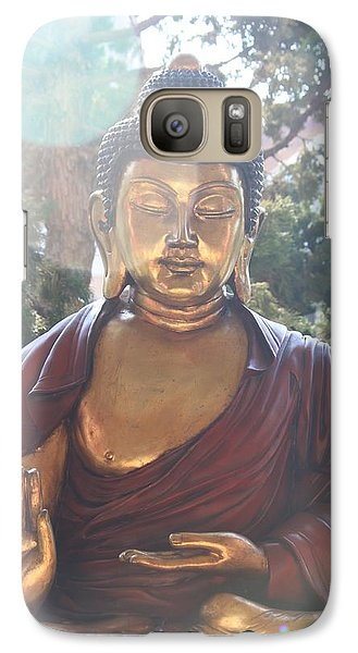 Galaxy Case featuring the photograph The Mystical Golden Buddha by Amy Gallagher