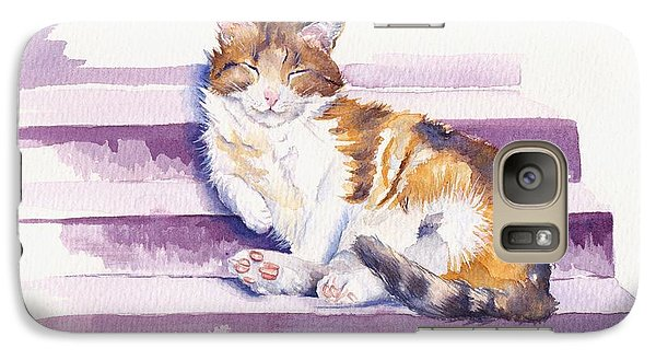 Cat Galaxy S7 Case - The Naughty Step by Debra Hall