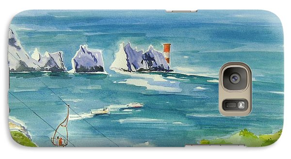 Galaxy Case featuring the painting The Needles Isle Of Wight by Geeta Biswas