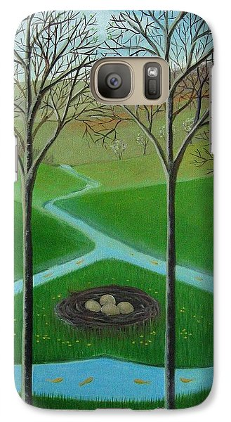 Galaxy Case featuring the painting The Nest by Tone Aanderaa