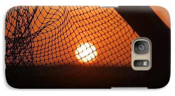 Galaxy Case featuring the photograph The Netted Sun by Leticia Latocki