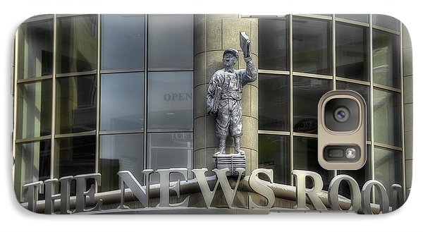 Galaxy Case featuring the photograph The News Room by Trey Foerster