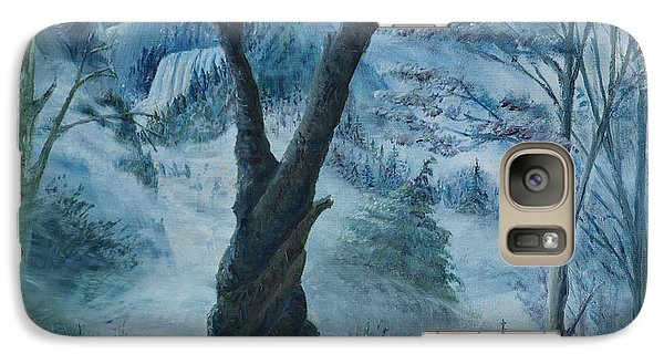 Galaxy Case featuring the painting The Night Of The Super Moon by Anthony Lyon
