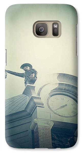 Galaxy Case featuring the photograph The Night Watchman by Trish Mistric