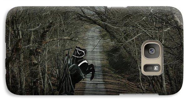 Galaxy Case featuring the digital art The Nightmare by Davandra Cribbie