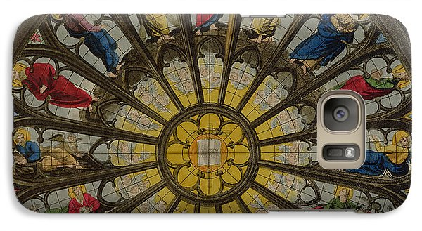 Westminster Abbey Galaxy S7 Case - The North Window by William Johnstone White