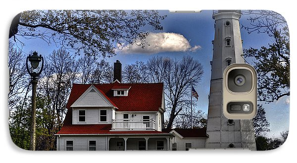 Galaxy Case featuring the photograph The Northpoint Lighthouse by Deborah Klubertanz