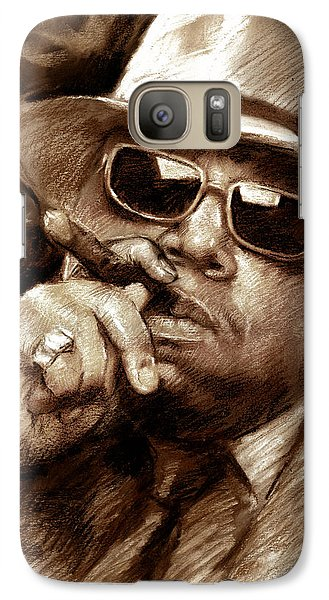 Galaxy Case featuring the drawing The Notorious B.i.g. by Viola El