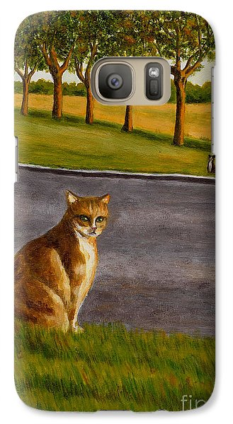 Galaxy Case featuring the painting The Obscure Communication Between Cats by Jingfen Hwu