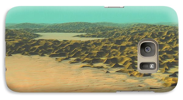 Galaxy Case featuring the painting The Ocean Is A Desert by Pet Serrano
