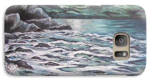 Galaxy Case featuring the painting The Ocean Sings The Sky Listens 3 by Cheryl Pettigrew
