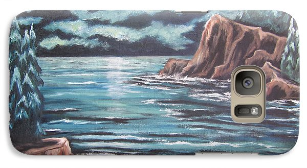 Galaxy Case featuring the painting The Ocean's Quiet Beauty by Cheryl Pettigrew
