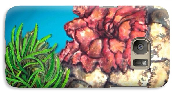Galaxy Case featuring the painting The Odd Couple Two Very Different Sea Anemones Cohabitat by Kimberlee Baxter