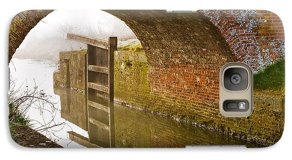 Galaxy Case featuring the photograph The Old Bridge And Lock Gates by Trevor Chriss