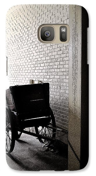 Galaxy Case featuring the photograph The Old Cart From The Series View Of An Old Railroad by Verana Stark
